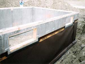 new construction foundation waterproofing system